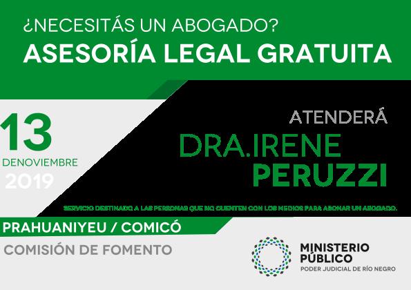 13 de Noviembre - Asesoramiento legal gratuito en Prahuaniyeu y Comicó