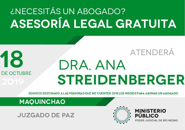 18 de octubre, asesoramiento legal gratuito en Maquinchao