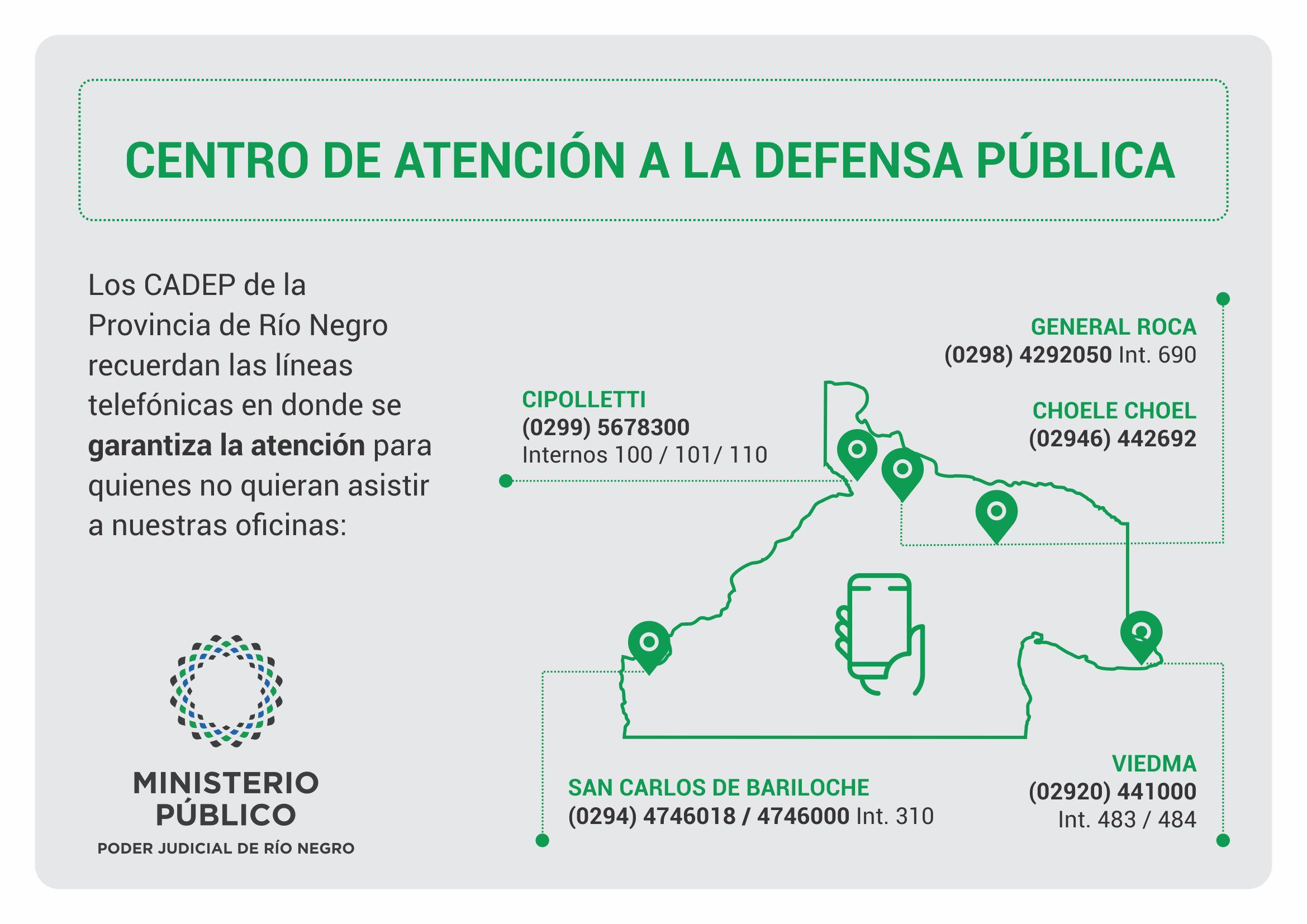 Centros de Atención a la Defensa Pública