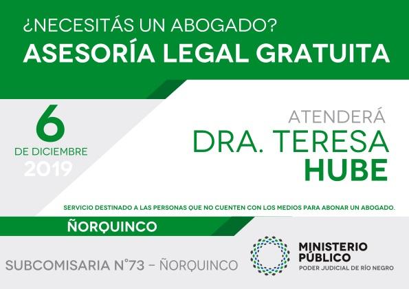 Asesoramiento legal gratuito en la localidad deÑorquinco