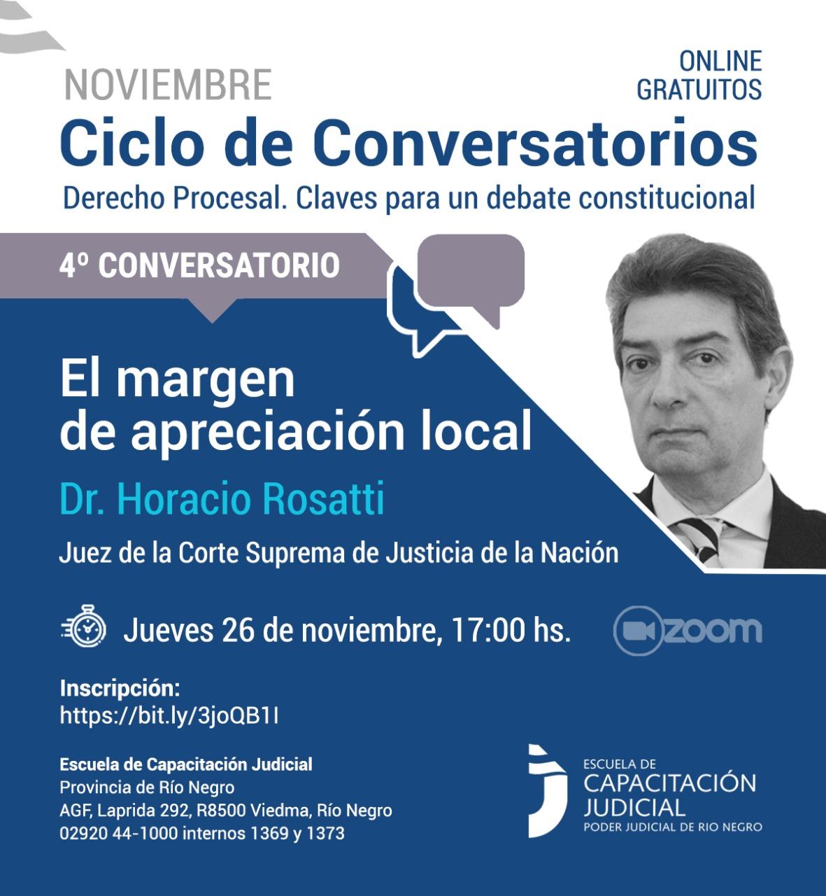 """Ciclo de conversaciones sobre Derecho Procesal: """"El margen de apreciación local"""""""