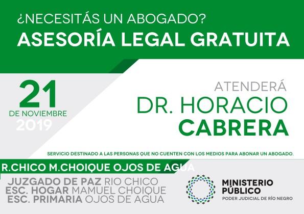 Defensa Pública en R.Chico,M.ChoiqueyOjosdeAgua