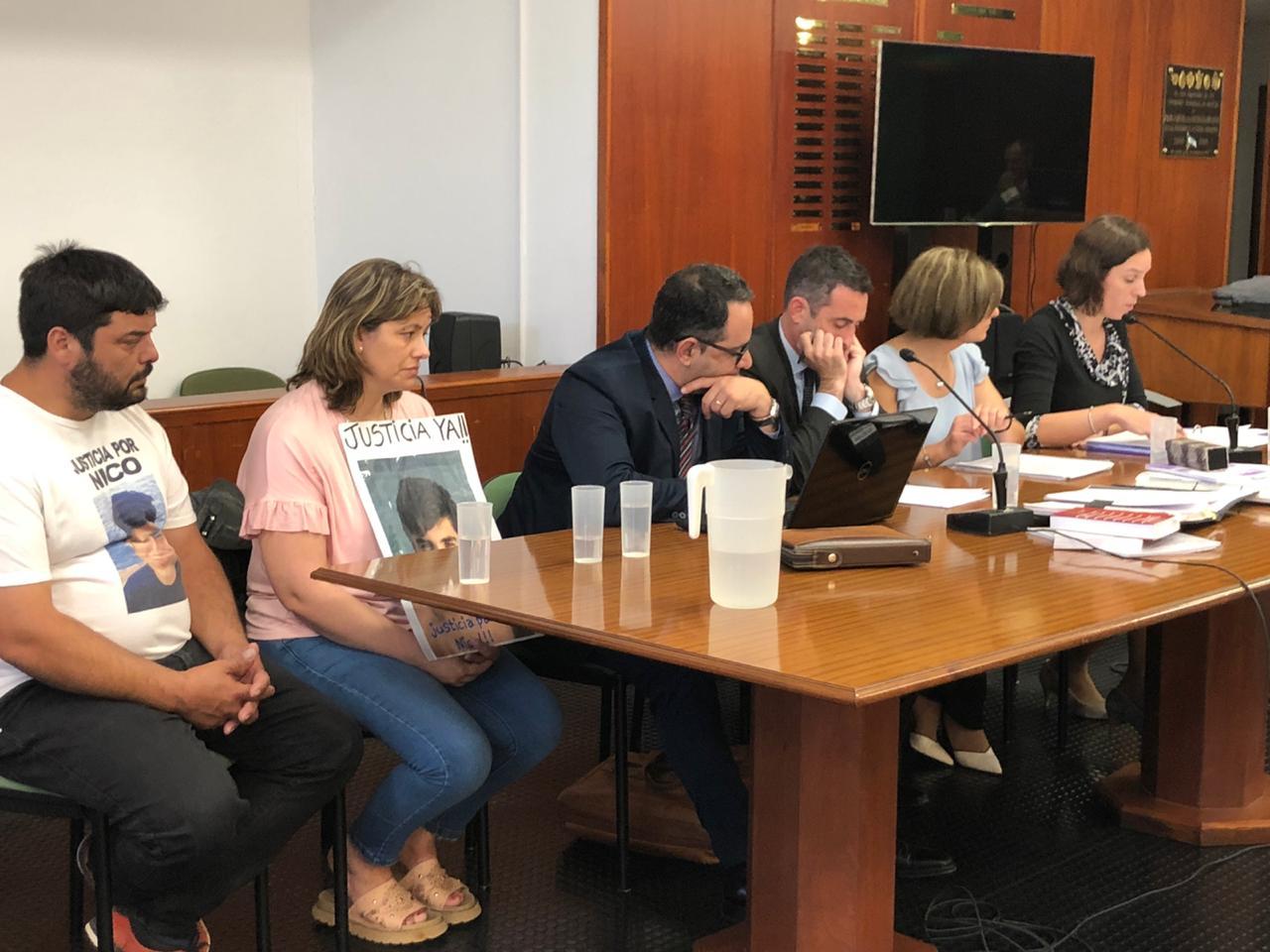 Comenzó debate oral y público por la muerte de Nico Gutierre