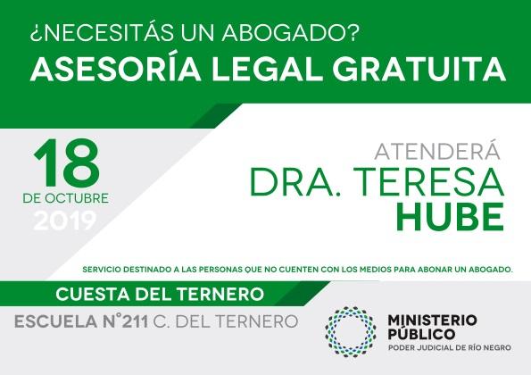 Asesoramiento legal gratuito en el parajeCuestadelTernero