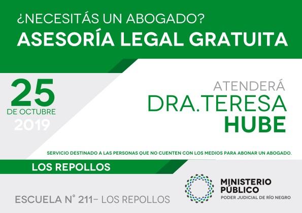Asesoramiento legal gratuito en el parajeLosRepollos