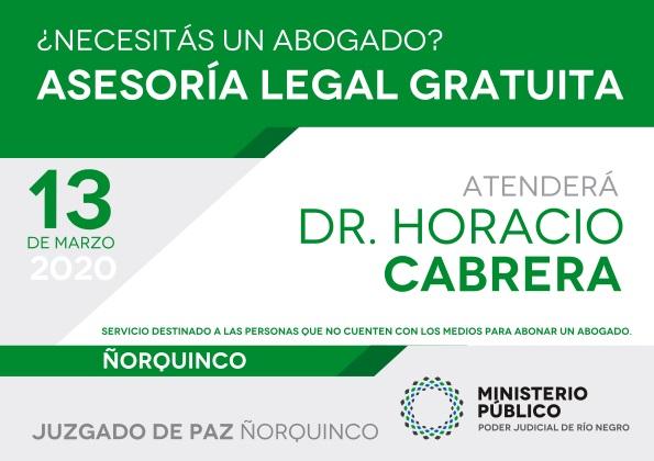 13 de marzo, defensa pública enÑorquinco